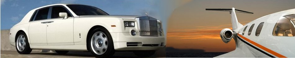 Corporate Rolls Royce Phantom Limo at airport in ESSEX