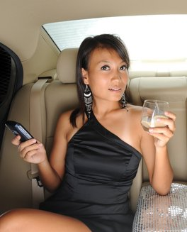 Corporate Lady in Limo