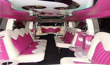 White Limo interior features